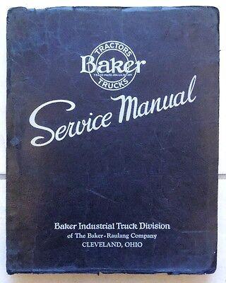 Vintage 1941 Baker Industrial Crane Truck Model Jomh 6 Service Manual