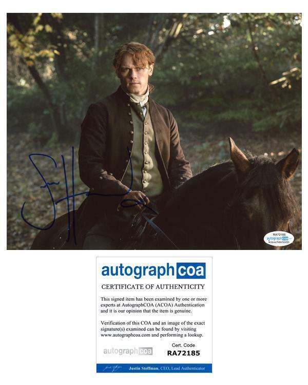 "Sam Heughan ""Outlander"" AUTOGRAPH Signed 8x10 Photo C ACOA"