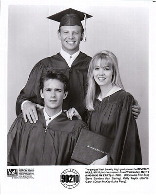 Beverly Hills 90210 Original Graduation Photo 1993 Luke Perry Jennie Garth