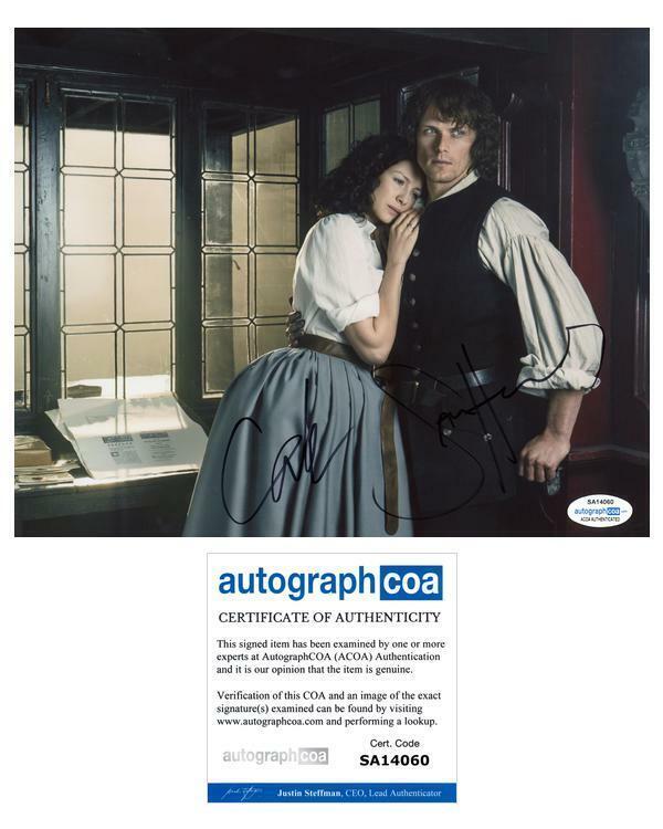 "Sam Heughan & Caitriona Balfe ""Outlander"" AUTOGRAPHS Signed 8x10 Photo I ACOA"