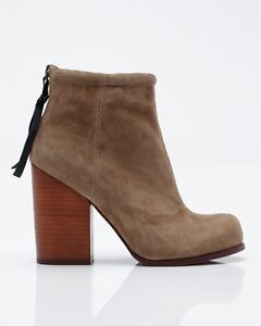 Jeffrey Campbell Rumble Suede Zip Back Booties - Beige 6.5/7 London Ontario image 1