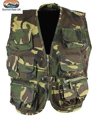 9a34d790dcb09 Kombat Kids Tactical Vest DPM Woodland Camo Waistcoat Children Army / Size  12-13