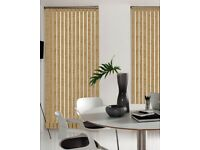 Gold Vertical Blinds - Brown Head rail - A1 Condition - Free