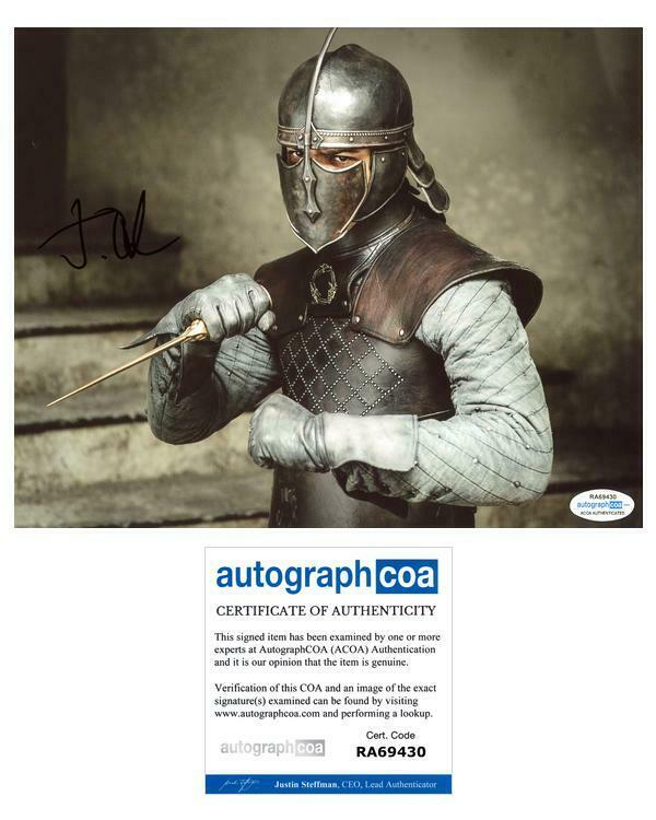 """Jacob Anderson """"Game of Thrones"""" AUTOGRAPH Signed 8x10 Photo ACOA"""