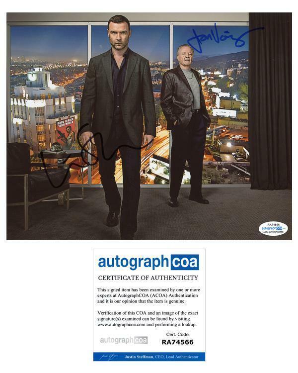 "Liev Schreiber & Jon Voight ""Ray Donovan"" AUTOGRAPHS Signed 8x10 Photo ACOA"