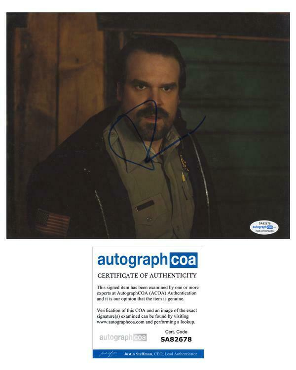 "David Harbour ""Stranger Things"" AUTOGRAPH Signed 'Jim Hopper' 8x10 Photo ACOA"