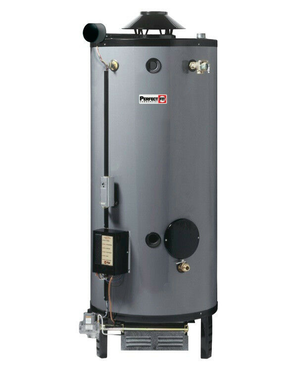 RHEEM 100 GALLON HOT WATER HEATER 199,900 BTU COMMERCIAL TANK G100-200 NAT GAS