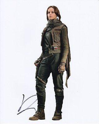 Felicity Jones Signed 8X10 Rogue One  A Star Wars Story Jyn Erso Photograph