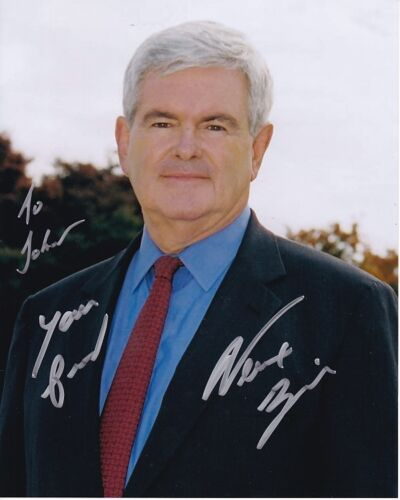 NEWT GINGRICH Autographed Signed Photograph - To John