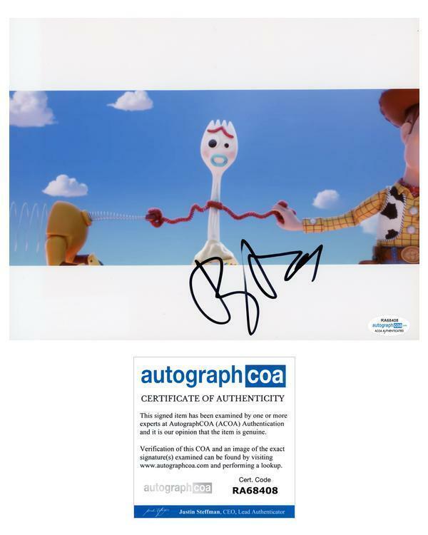 """Tony Hale """"Toy Story 4"""" AUTOGRAPH Forky Signed 8x10 Photo B ACOA"""