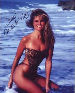 CHRISTIE BRINKLEY Signed Photo w/ Hologram COA