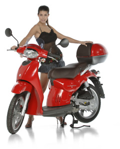 Aprilia Red Top Case with Brown Backrest - Brand New