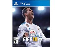PS4 game FIFA 18 new