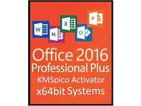 MICROSOFT OFFICE 2016 x64bit Pro Plus - WORD, POWERPOINT, EXCEL, OUTLOOK, ACCESS, PUBLISHER