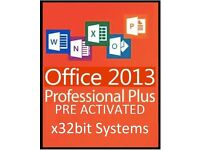 MICROSOFT OFFICE 2013 Pro Plus x32bit- WORD, POWERPOINT, EXCEL,OUTLOOK, ACCESS, PUBLISHER