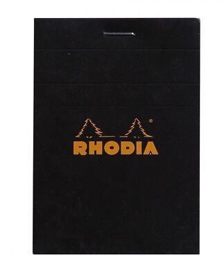 Rhodia Staplebound - Notepad - Black - Graph - 80 Sheets - 3 X 4 - New R112009