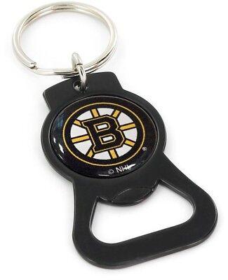 BOSTON BRUINS - BOTTLE OPENER KEYCHAIN - BRAND NEW - NHL-BK-702-07-BK Boston Bruins Nhl Keychain