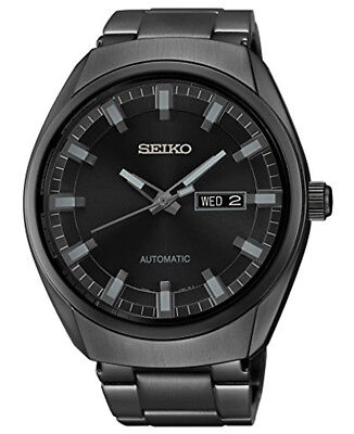 Seiko Men's Automatic Self-Wind Black Ion Plated Stainless Steel Watch SNKN43