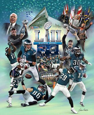 31dd6763bff Philadelphia Eagles THE EAGLE MOMENT Super Bowl LII Champs Premium Poster  Print