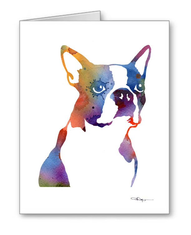 BOSTON TERRIER Note Cards With Envelopes