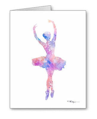 BALLET note cards by watercolor artist DJ Rogers