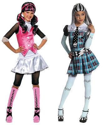 Monster High Girl's Halloween Costume Size Medium Draculaura or Frankie Stein ()