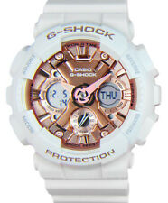 Casio G-Shock Analog-Digital Quartz Chrono 200m White Resin Watch GMAS120MF-7A2
