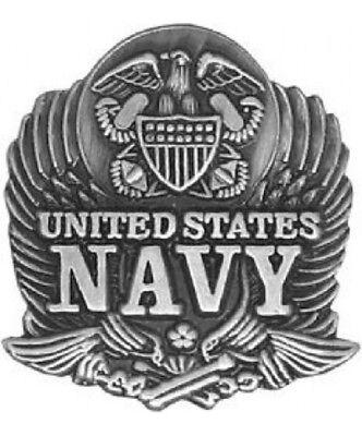"United States NAVY Veteran military EAGLE Hat Tie Jacket Lapel 7/8"" PIN"