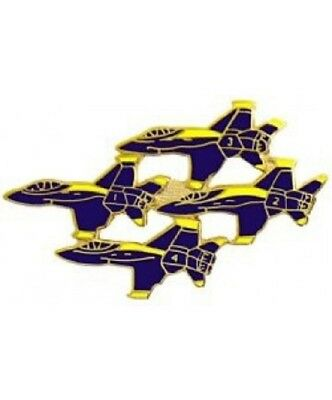 """US NAVY BLUE ANGELS Blue Angel Aircraft pin hat lapel Large MILITARY pin 1 3/4"""""""