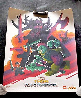 san diego Comic Con MARVEL Thor RAGAROK poster 18x24 LEGO stan lee