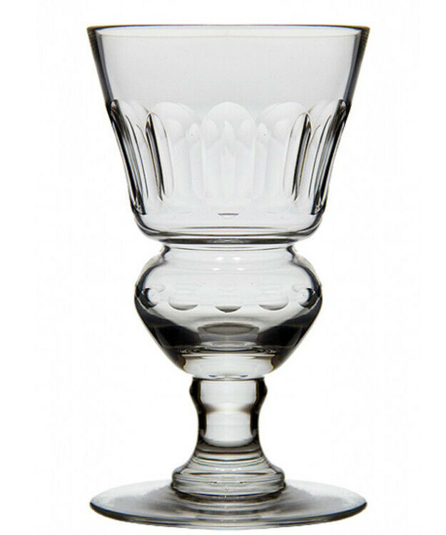 ORIGINAL BLOWN PONTARLIER ABSINTHE GLASS WITH FACETS