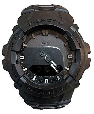 Casio G-Shock Analog-Digital 200m Anti-Magnetic Black Resin Watch G100BB-1A