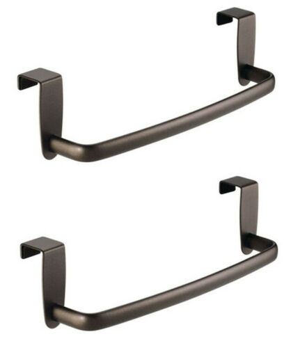 InterDesign Axis Over-the-Cabinet Metallic Dish Towel Holder
