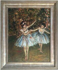 Ballet Dancers (1981) by Michelle Ansor (Original Oil Painting)