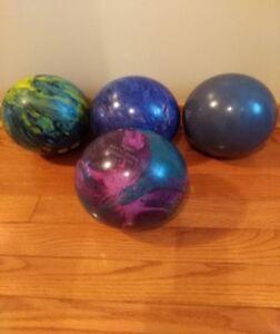 bowling balls and bag