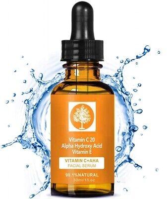 (100ml/61,30€) Vitamin C Serum 20% gegen Akne fettige trockene Haut AntiAge