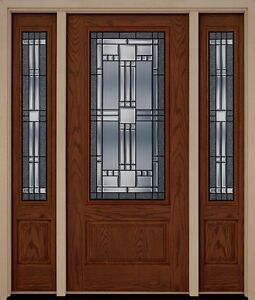 Fiberglass exterior elegant front entry door two sidelites for Exterior door brands