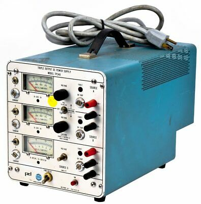 Power Designs Tp340 Industrial Benchtop Variable Triple Output Dc Power Supply