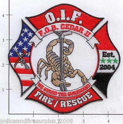 Iraq - Camp Cedar II Fire Rescue Dept Patch OIF v2