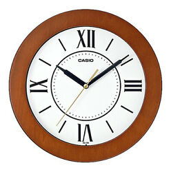 Casio Analog Quartz 10 Wooden Case Wall Clock IQ126-5B