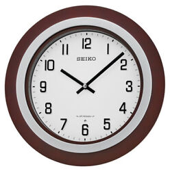 Seiko Easton 15 Walnut / Brushed Nickel Musical Wall Clock QXM547BLH