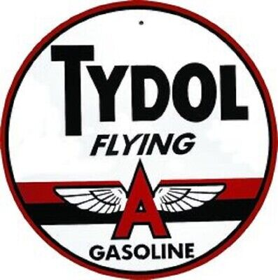 Flying Metal Sign (TYDOL FLYING A GASOLINE ROUND METAL SIGN)