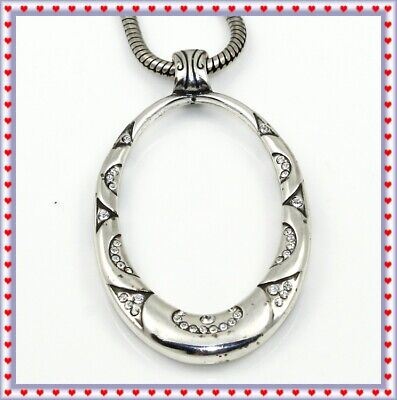 60s -70s Jewelry – Necklaces, Earrings, Rings, Bracelets Brighton Swinging Sixties Silver Crystal Pendant Necklace $29.99 AT vintagedancer.com