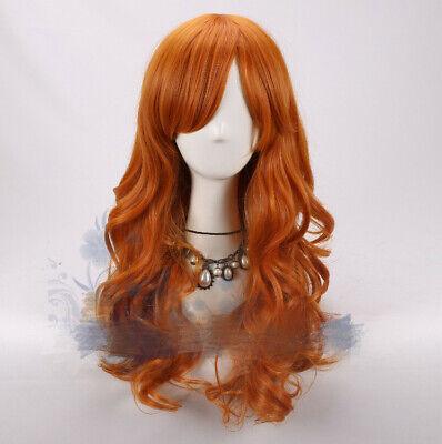 One Piece Nami Cosplay Kostüme Costume Perücke Wig Perruque Orange Lang - Nami One Piece Kostüm
