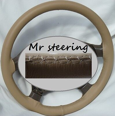 FOR LANDROVER DISCOVERY TOP QUALITY BEIGE LEATHER STEERING WHEEL COVER 89-10 NEW
