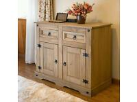 Brand new boxed Corona Mexican Pine Large Sideboard | 2 Drawers & 2 Doors | Rustic Design