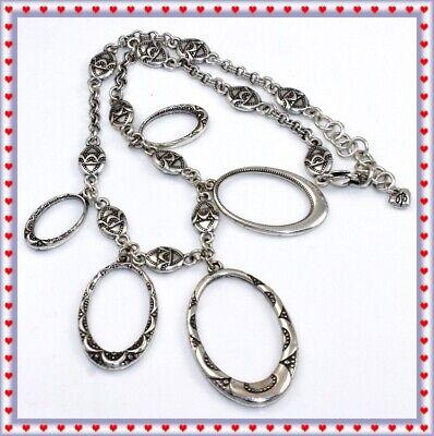 60s -70s Jewelry – Necklaces, Earrings, Rings, Bracelets Brighton Swinging Swingin Sixties Hoop Silver Necklace $24.99 AT vintagedancer.com