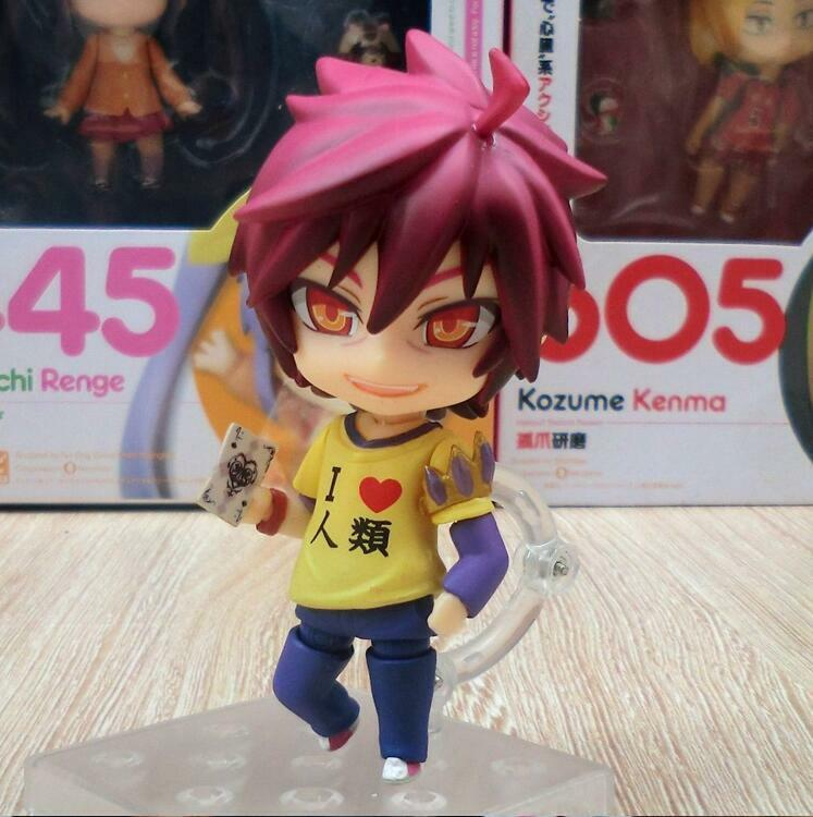Anime Nendoroid Figure Toy No Game No Life Sora Action Figurine 10cm