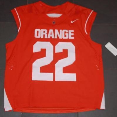 Nike Syracuse Orange  22 Lacrosse Fast Break Game Jersey Lg Gait Powell Sewn  90