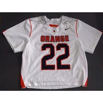 Nike Syracuse Orange  22 Lacrosse Game Jersey Lg Gait Powell